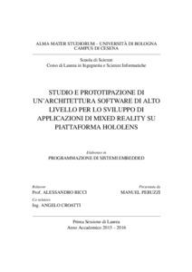 Studio e prototipazione di un 39 architettura software di for Software di progettazione di architettura domestica